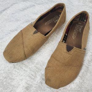 Women's TOMS Classic Burlap Slipon Shoes